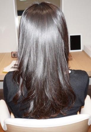 縮毛矯正 + 毛先パーマ