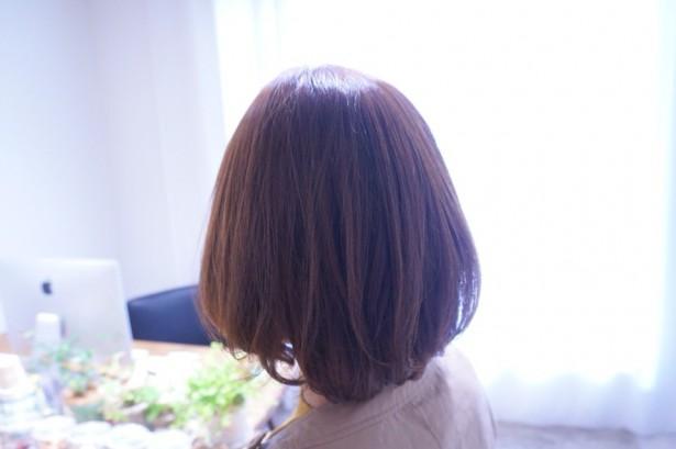 縮毛矯正+毛先のパーマもいい感じ♪